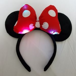 LED Light Minnie Mouse Ear 3D Headband halloween